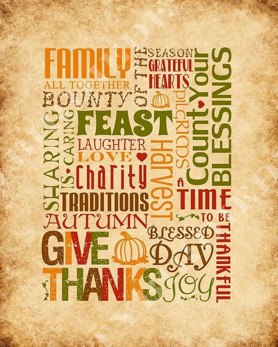 Printable Thanksgiving Decor