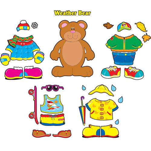 6 Images of Printable Weather Bear Template
