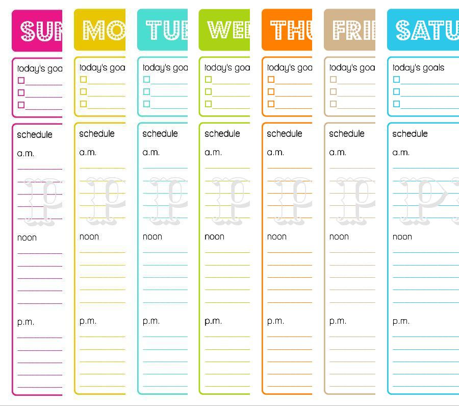 7 Images of Free Printable Daily Schedule Planner