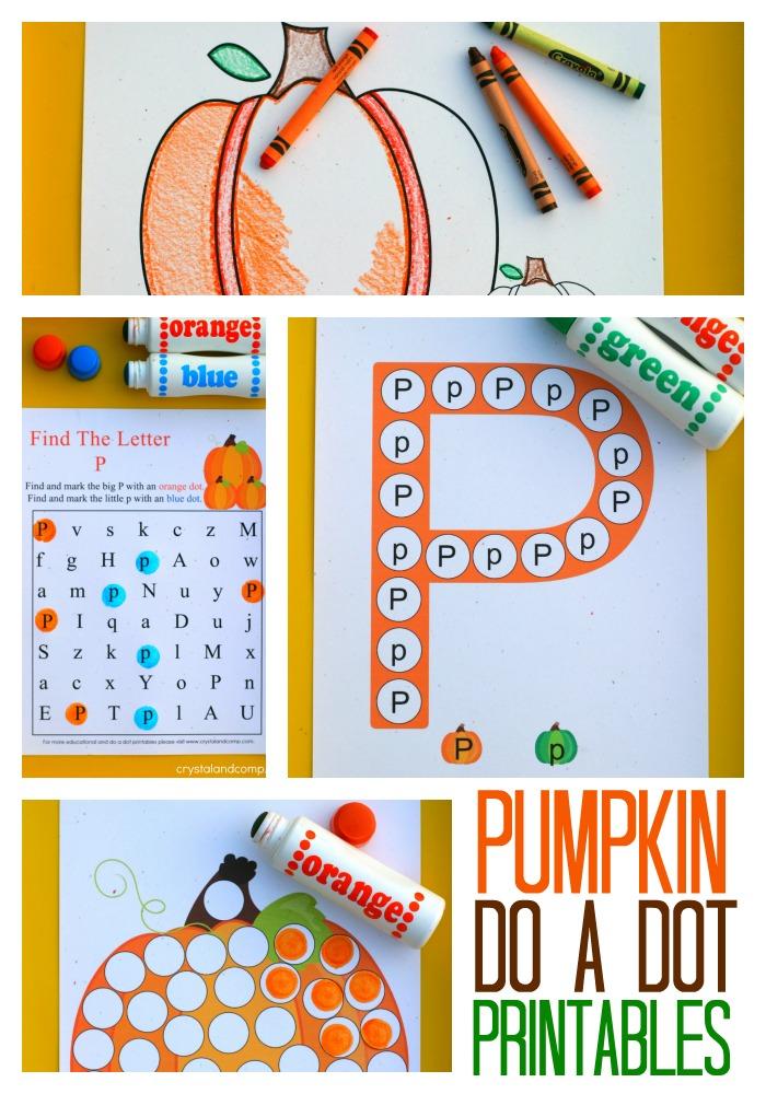 6 Images of Pumpkin Dot Marker Printables