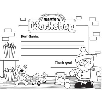 dear santa template kindergarten letter - 6 best images of coloring printable santa letter template