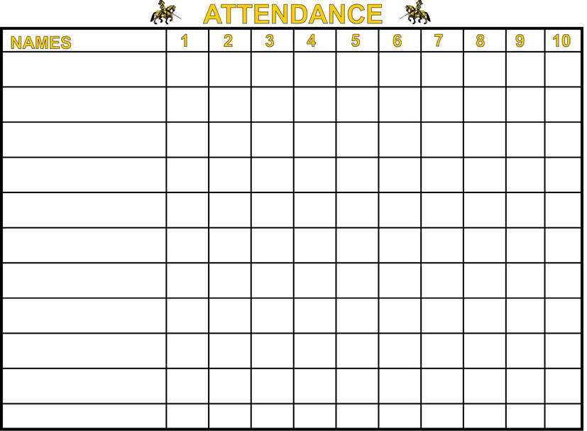 ... Free Printable Attendance Sheets and 2015 Free Printable Employee