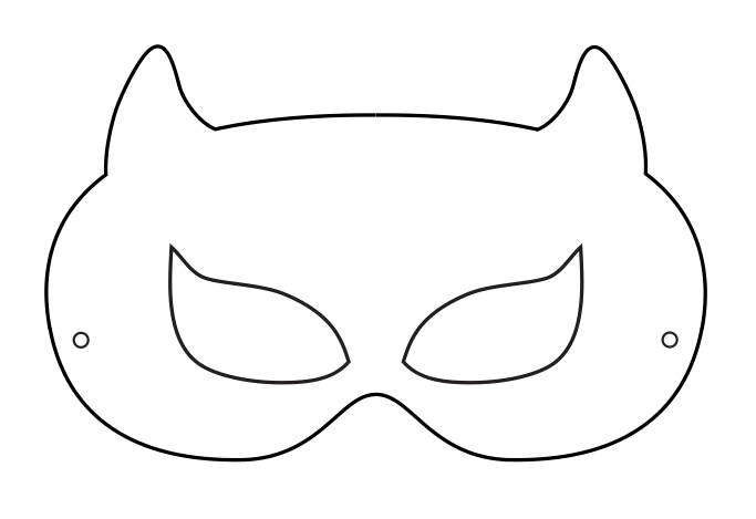 7 Images of Superhero Mask Template Printable
