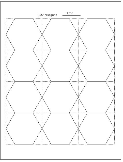 5 best images of printable english paper piecing templates for 1 5 inch hexagon template