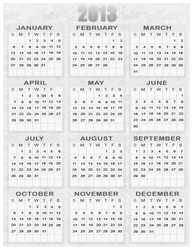 5 Images of 2013 2016 Calendar Printable