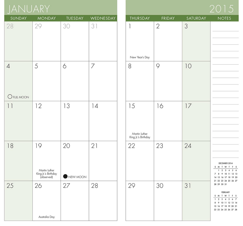 2015 Calendar Printable Pocket Planner