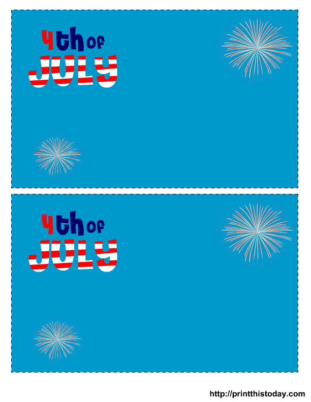 6 Images of Free Printable Fourth Of July Templates