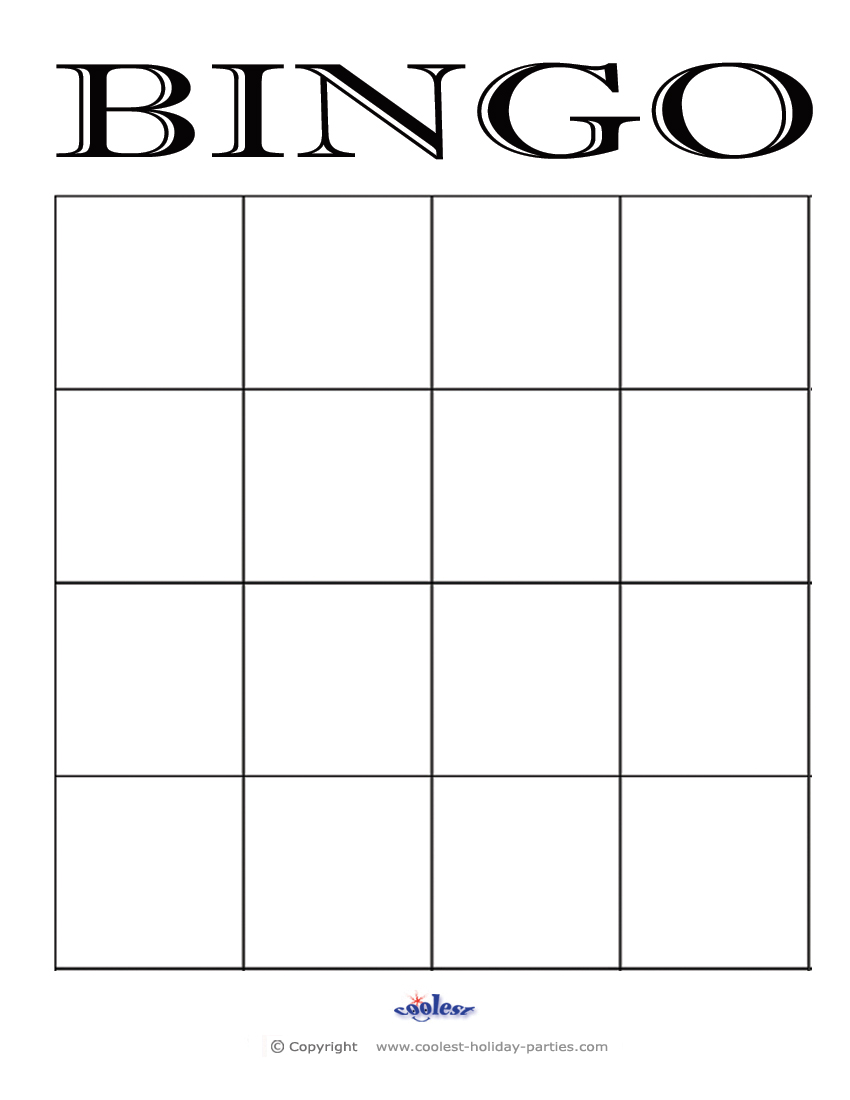 4 Images of Printable Blank Bingo Cards Template