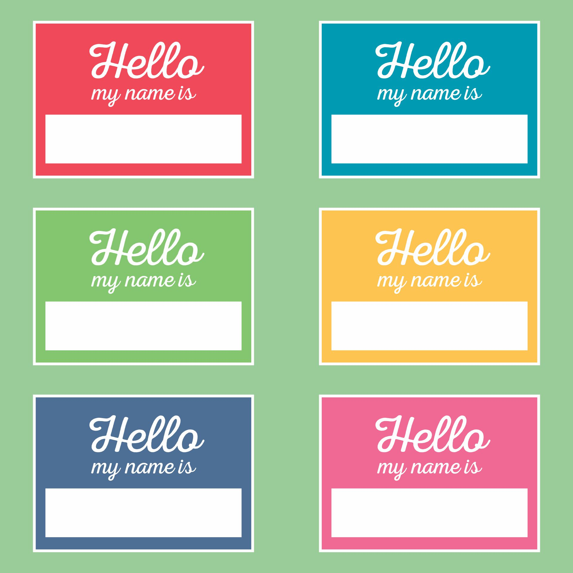 Avery Name Tag Templates Printables