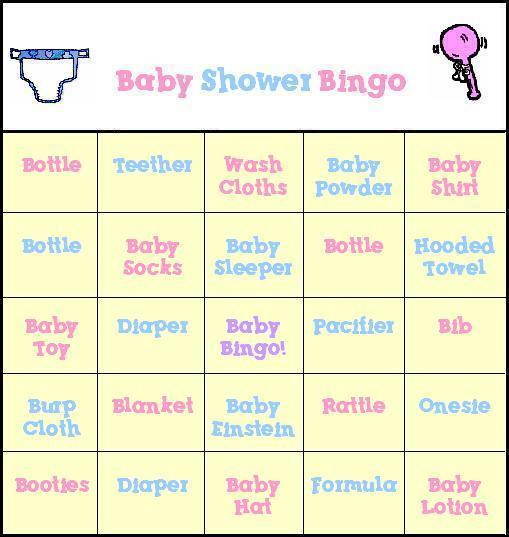7 Images of Free Printable Baby Shower Bingo Cards