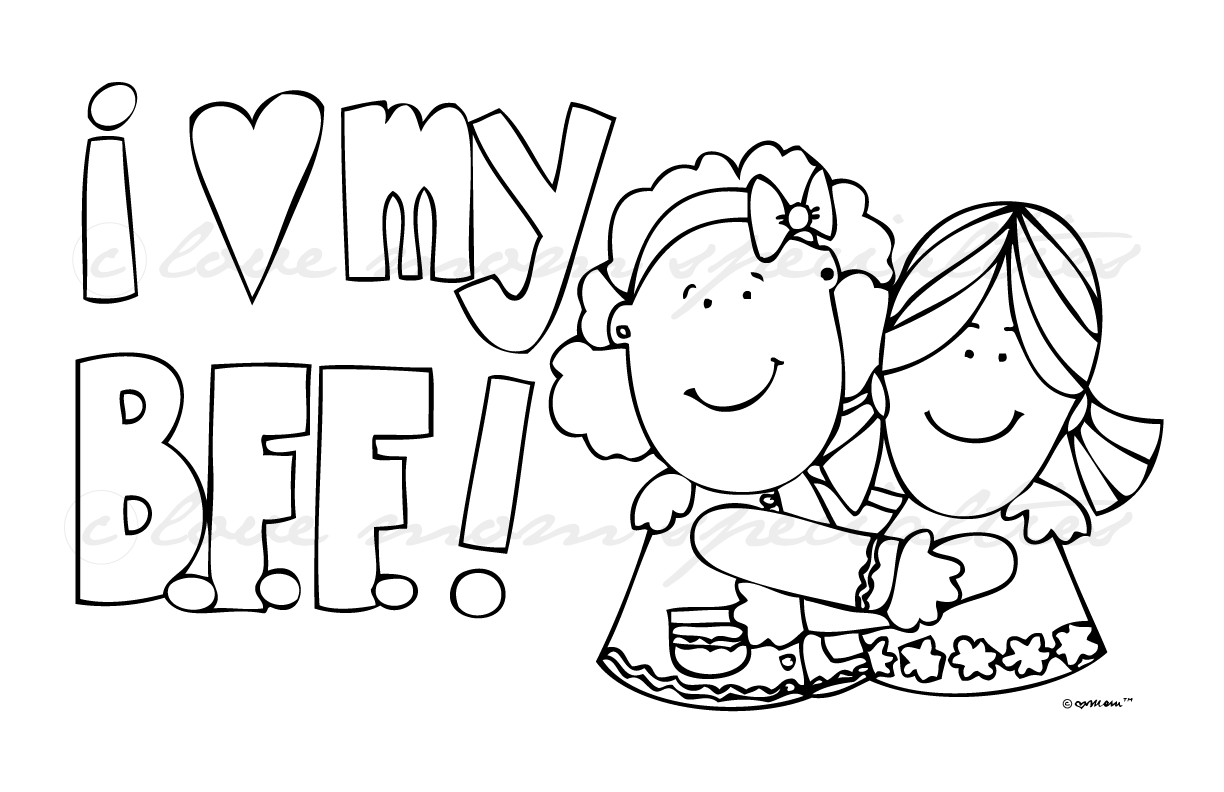 Coloring Pages For Your Best Friend : Cute coloring pages for your best friend softhouse