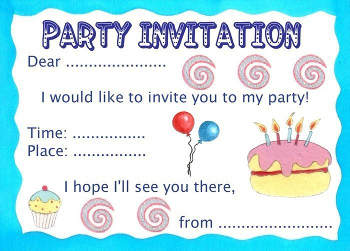 7 Images of Basic Printable Birthday Invitations