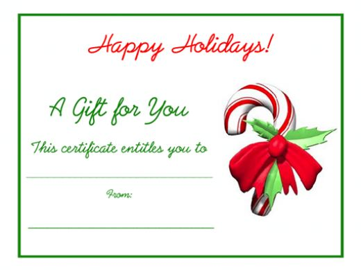 Printable Gift Certificates Templates – Free Gift Vouchers Templates