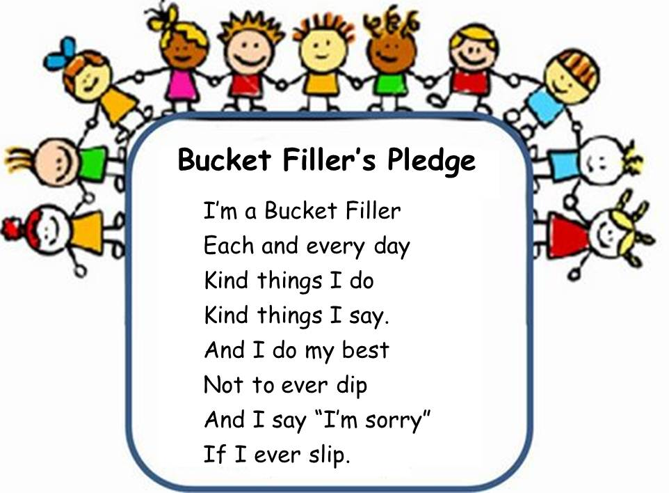 6 Images of Bucket Filler Pledge Printable