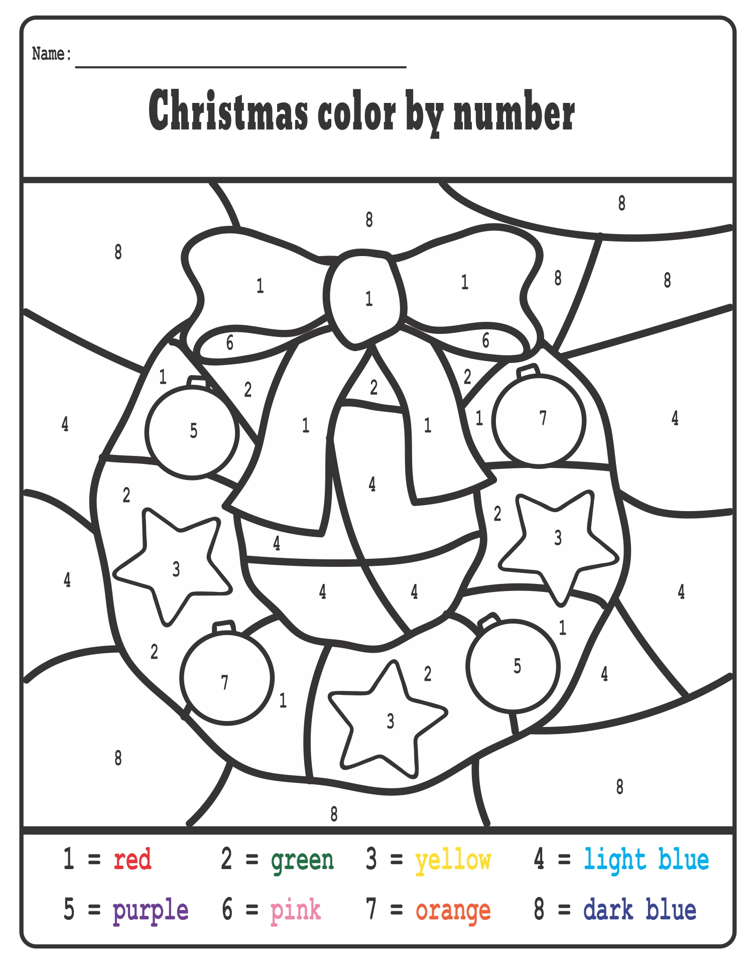 Number Names Worksheets free christmas work sheets : Number Names Worksheets : preschool christmas worksheets free ...