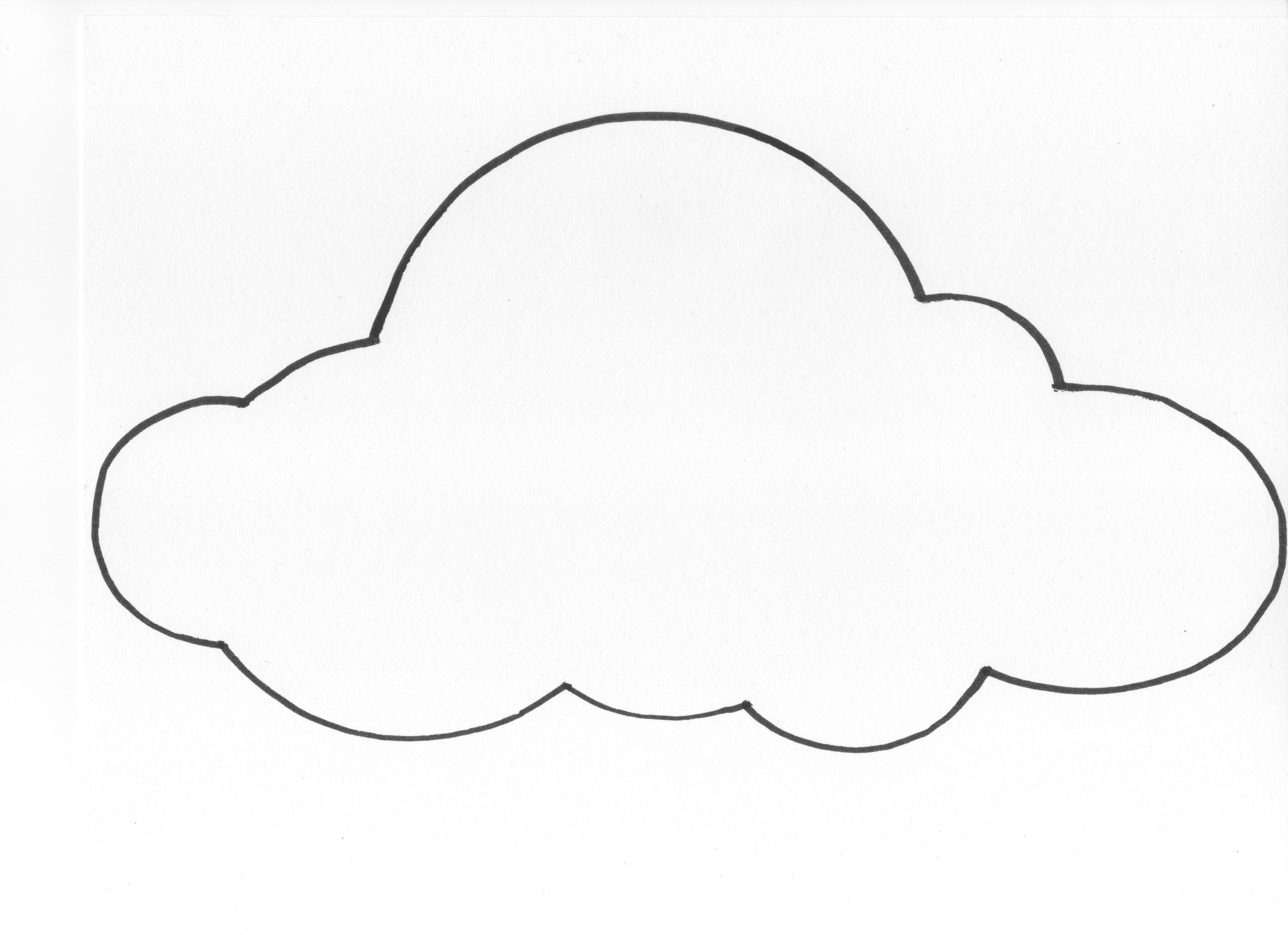 6 Images of Cloud Template Printable