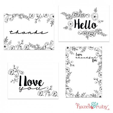 7 Images of Color Your Own Printable Cards