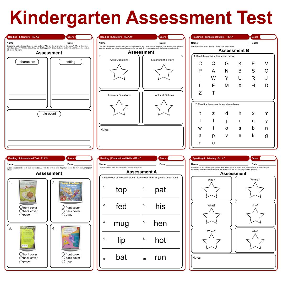 Kindergarten Assessment Math Printables
