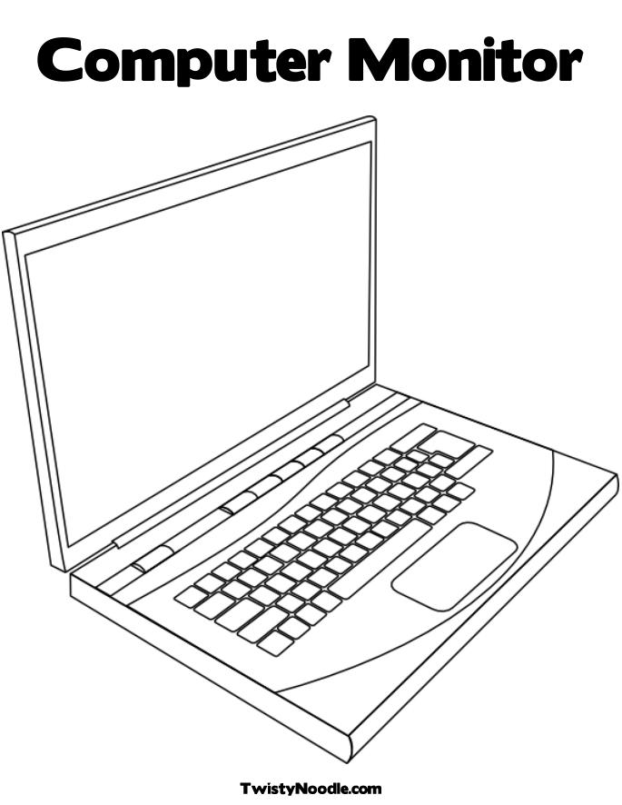 8 best images of printable laptop screen computer laptop for Coloring pages on computer