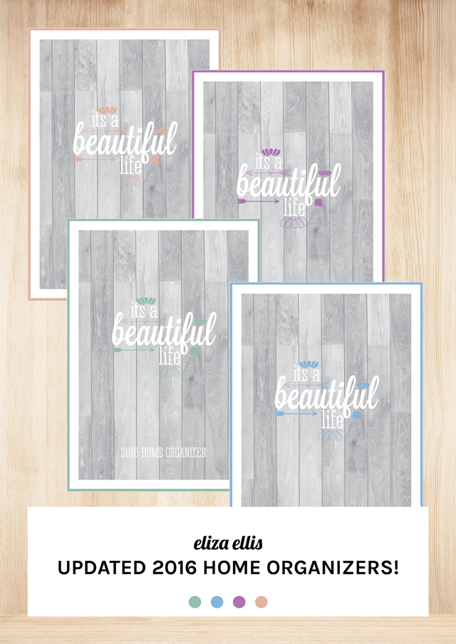 Cover Free Printable Planner 2016