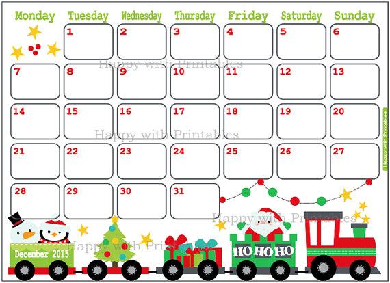 December 2015 Calendar Printable 8 X 11