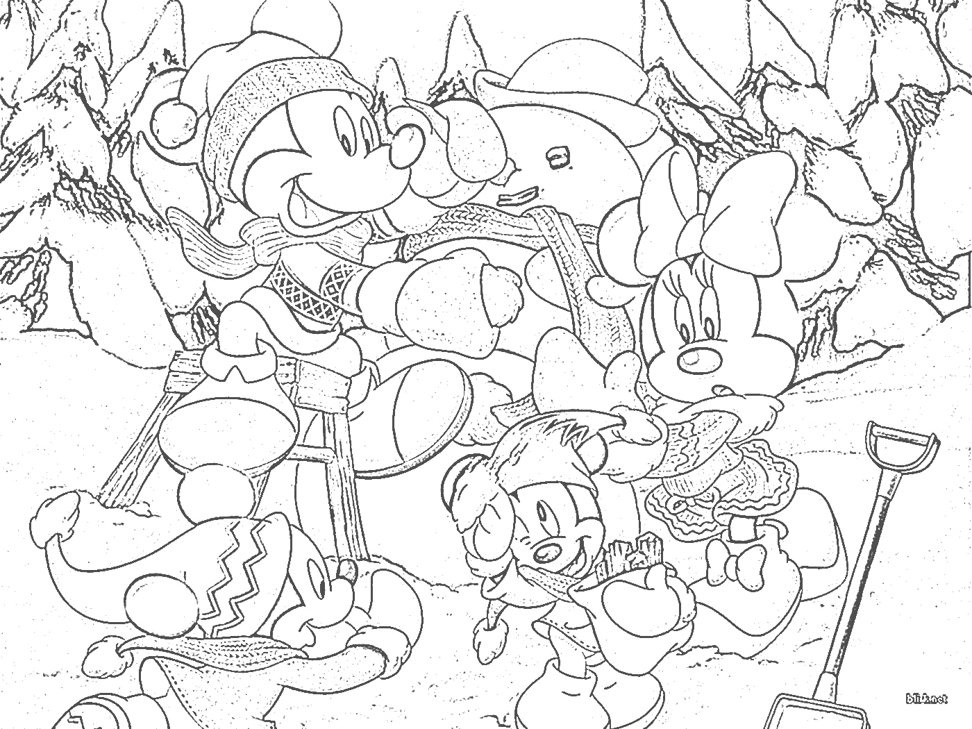 Disney Christmas Coloring Pages - Disney's World of Wonders