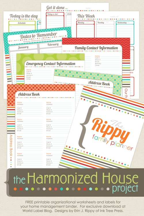 5 Images of Free Printable Home Organizing Planner