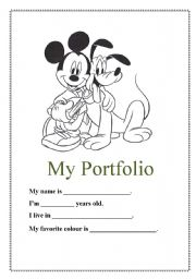 Post_portfolio Cover Sheet Printable_225950 on Bunch Ideas Of Kindergarten Space Worksheets For Cover