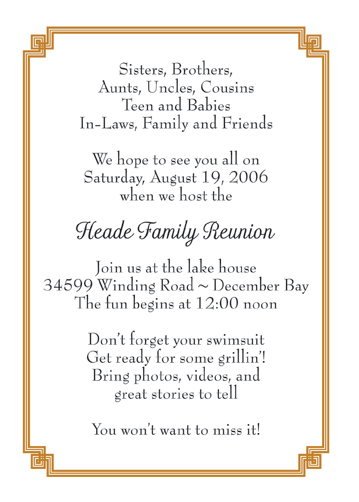 Family Reunion Invitation Poems