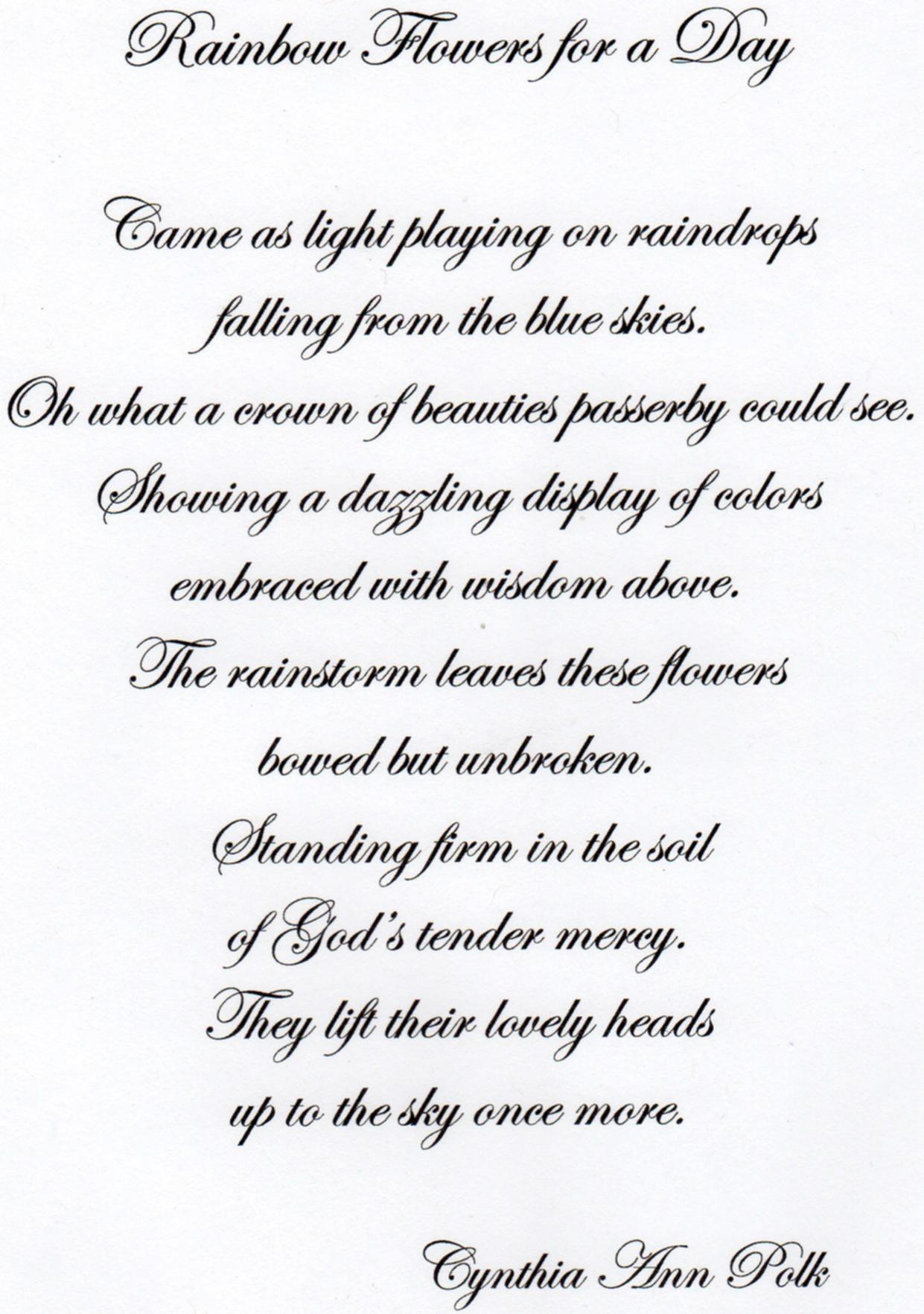 Family Reunion Poems Printable