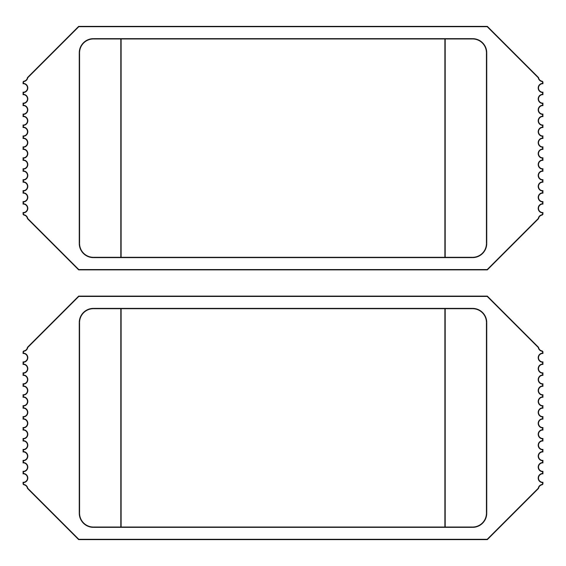 Clip Art Ticket Template