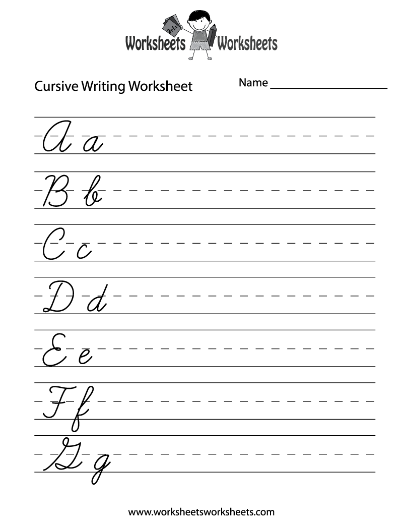 Cursive papers
