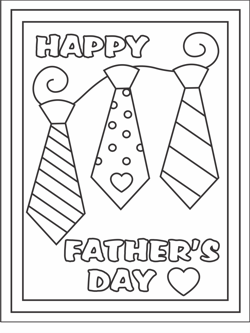 5 Images of Father's Day Cards To Color For Kids Printable