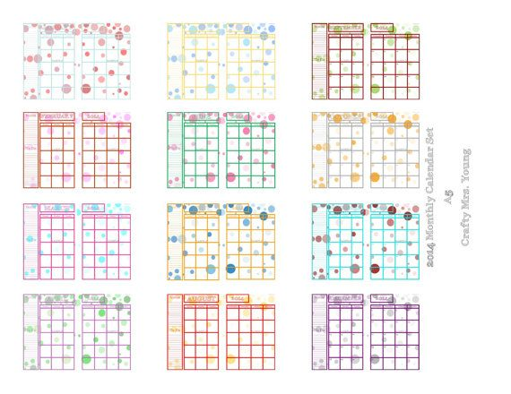 7 Images of A5 Monthly Calendar Printable Free
