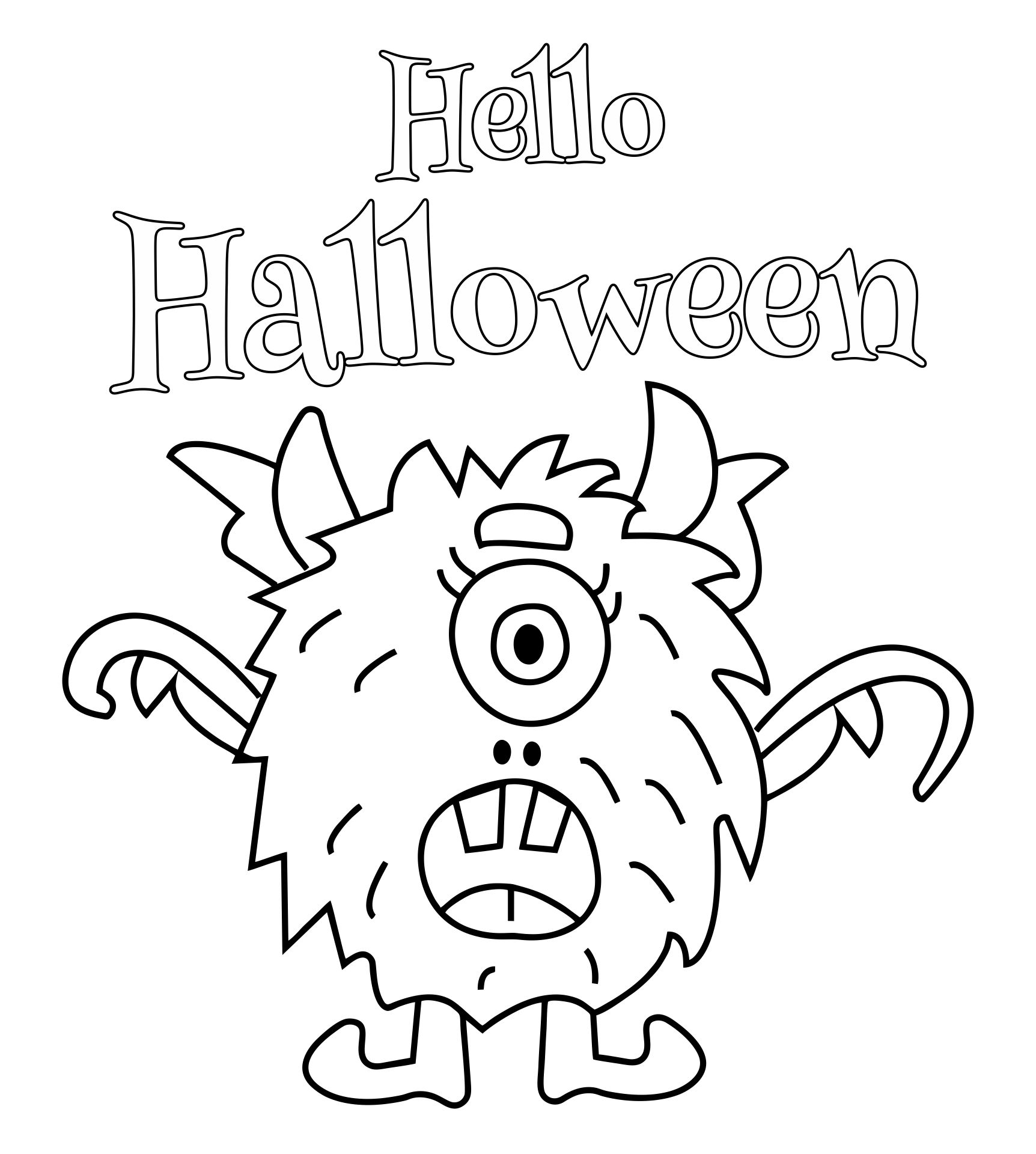 5 Images of Free Printable Halloween Coloring