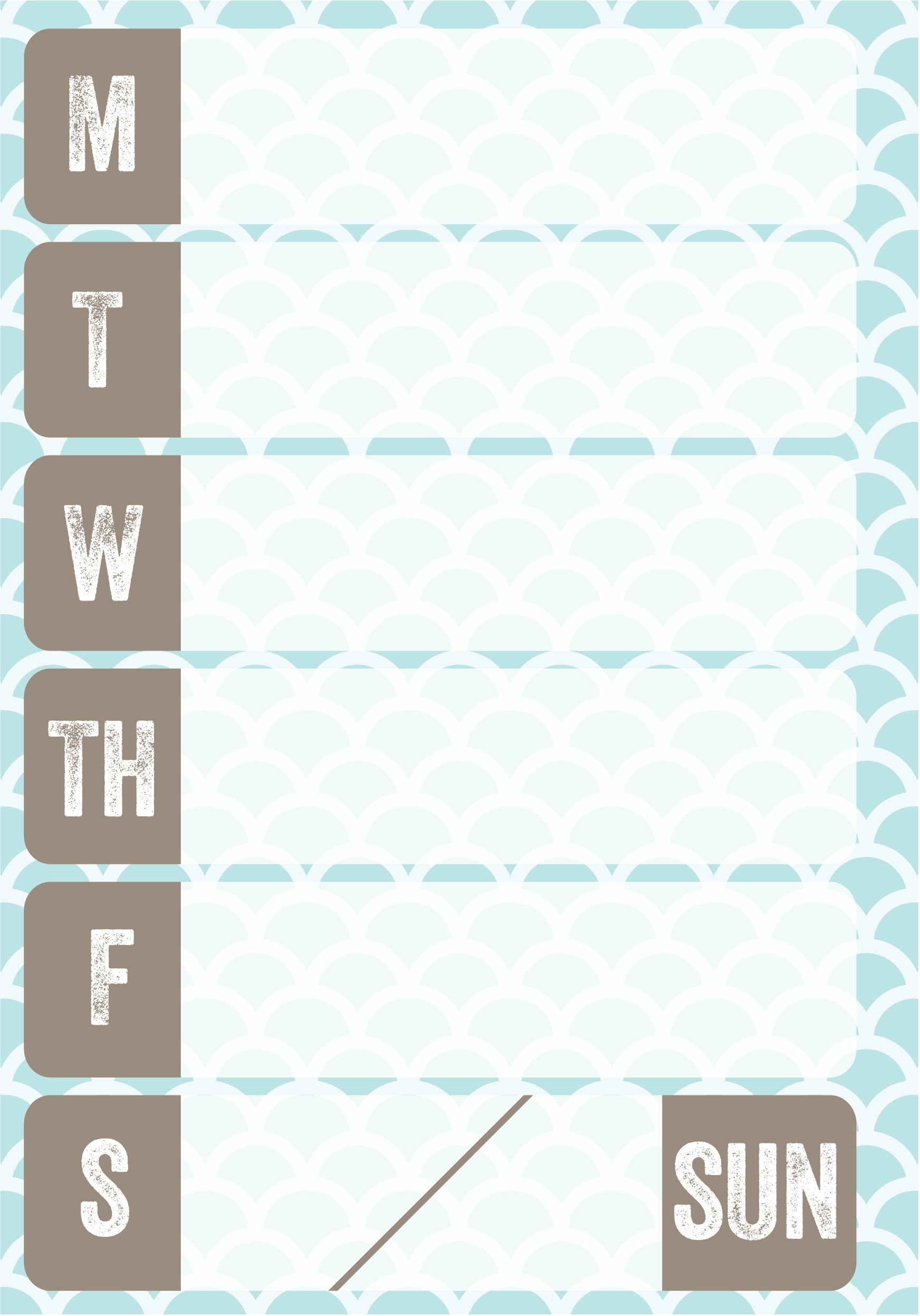 6 Images of Free Printable Weekly Planner Inserts