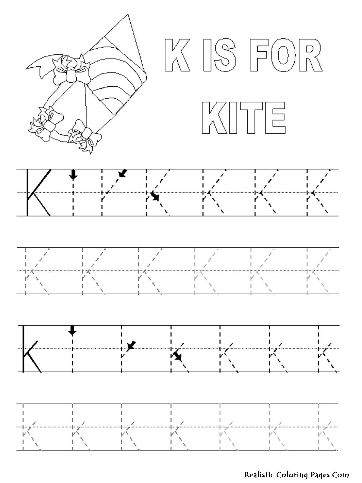 K 5 Worksheets : Best images of printable sheet letter k