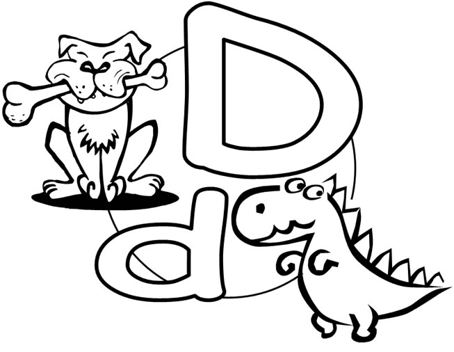 Coloring Pages For The Letter D. Coloring Activities For Toddlers ...