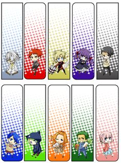 Free Printable Anime Bookmarks