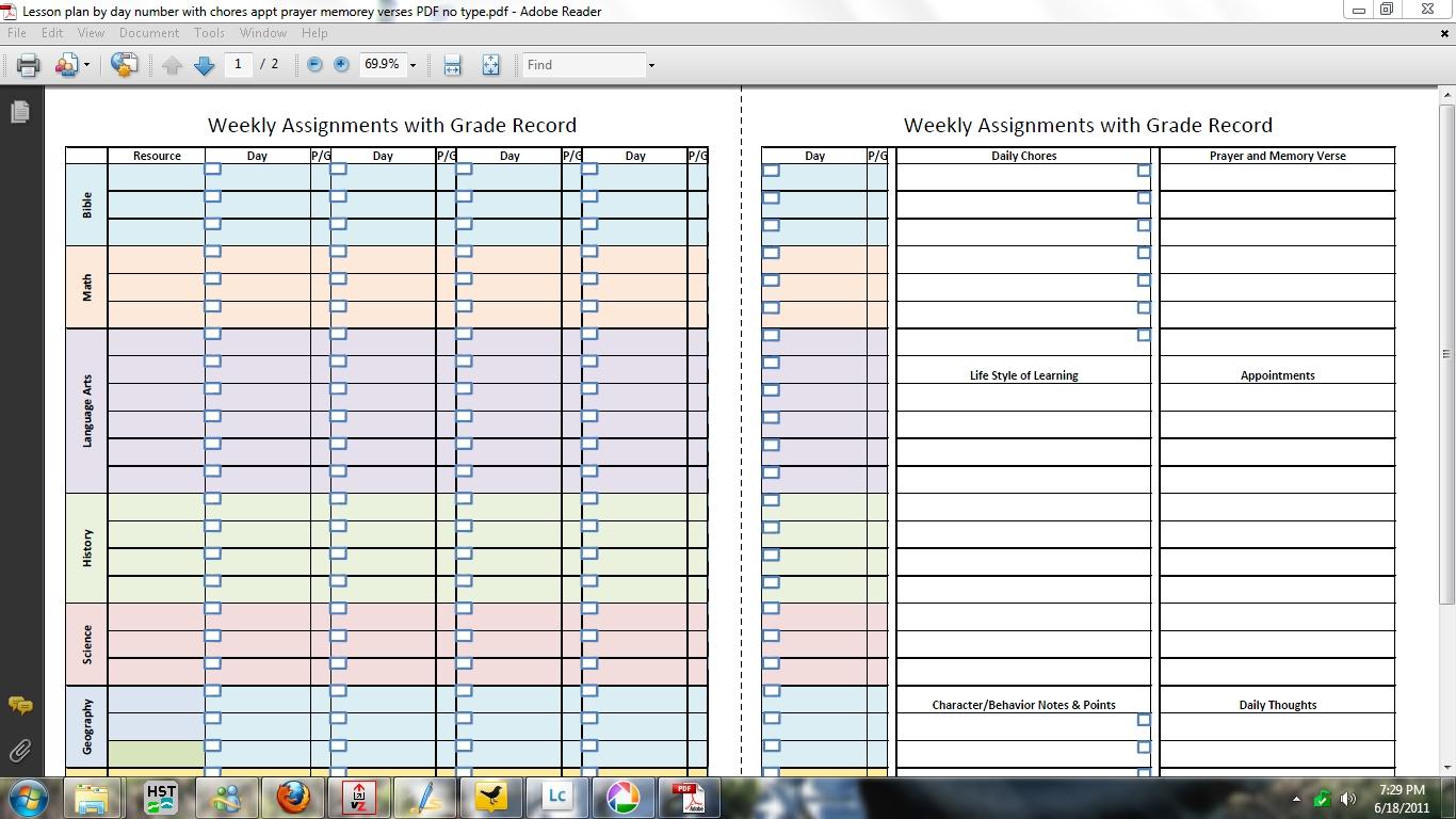 - Free Printable Homeschool Lesson Plan Template, Printable Weekly ...