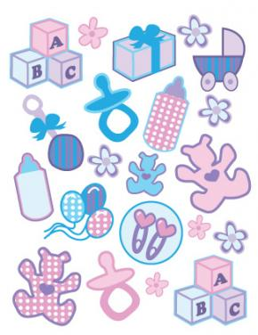 6 Images of Free Printable Baby Stickers