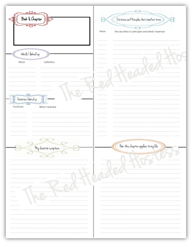 4 Images of Free Printable Bible Study Journal Pages