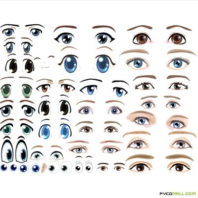 5 Images of Printable Cartoon Eyes