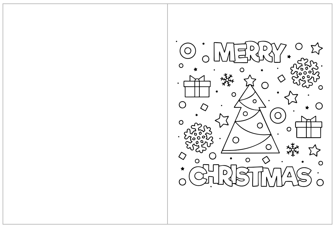 5 Images of Printable Christmas Coloring Cards Kids