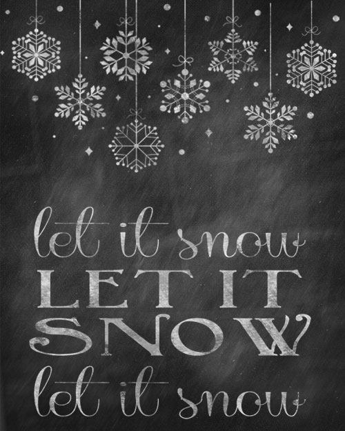 6 Images of Merry Little Christmas Chalkboard Printable