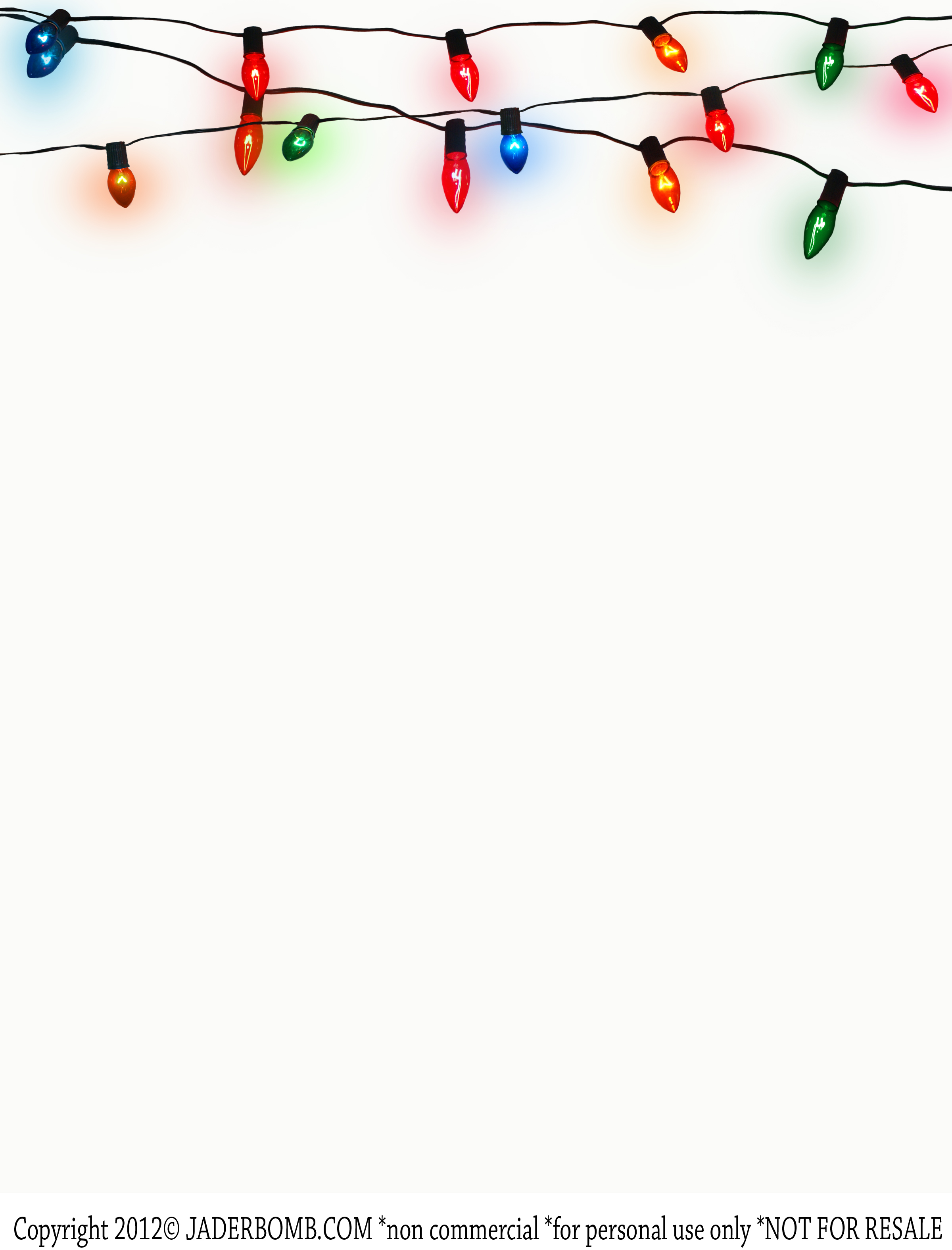 5 Images of Printable Christmas Light Frame