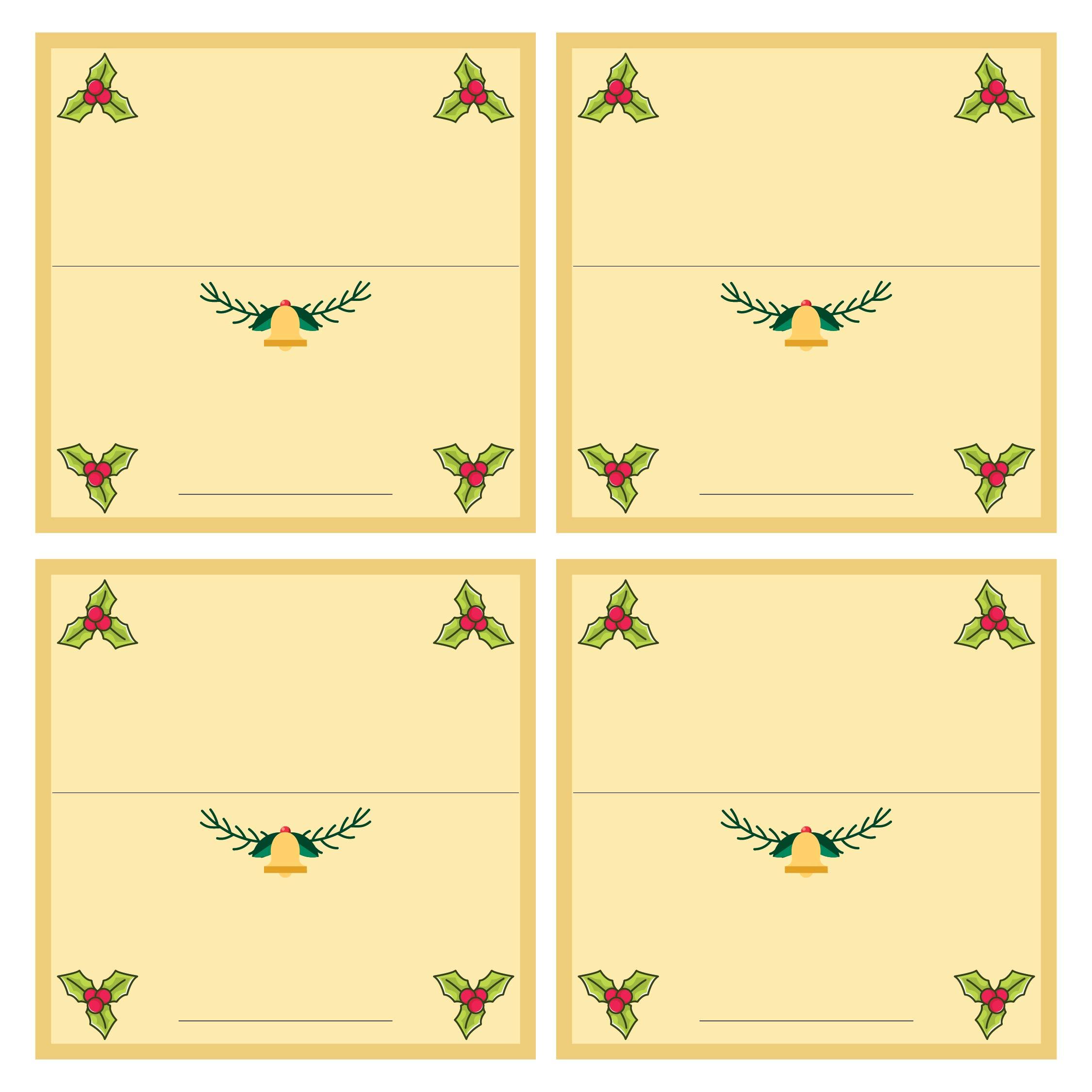 Printable Christmas Place Cards