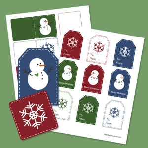 5 Images of Mini Christmas Printable Tags