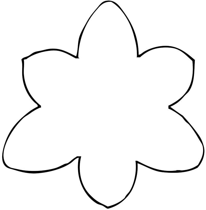 7 Images of Shape Flower Printable Templates