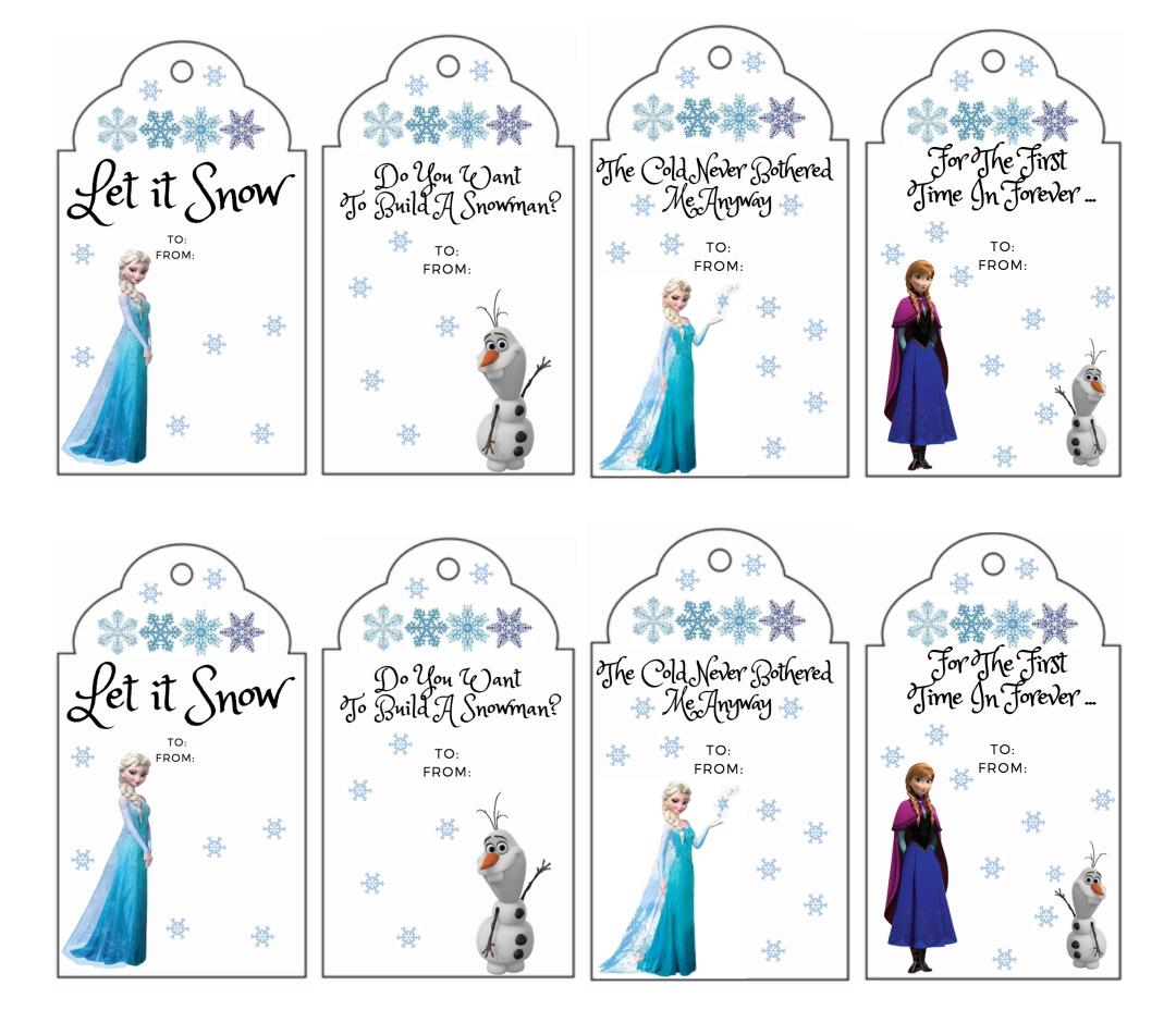 Printable Gift Tags Disney Frozen
